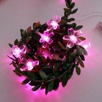 Cuerdas de cerezo Flor Flor Led String Light Lights Fairy Lights 19/20/40/30/50/100 LEDS Lámpara de guirnalda USB / batería / Decoraciones de energía solar