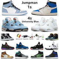 air jordan retro jumpman 1s tênis de basquete masculino travis scott x fragmento 1 mocha escuro criado 4s branco oreo universidade azul destemido mulheres homens esportes tênis