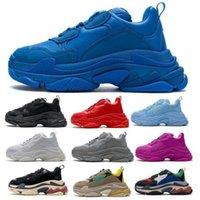 الرجال النساء الثلاثي الأحذية الأحذية باريس 17fw الأزرق خمر أحذية رياضية الرجعية 2021 مصممين الأزياء منصة الركض المشي المدربين chaussures حجم 36-45