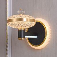 Стиль кристалл акриловая настенная лампа для спальни гостиной балкона телевизор фона висит