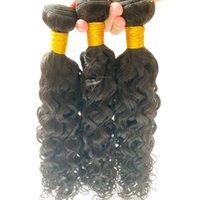 高品質の生のキューティクル整列ブラジルの髪12Aグレードの水波バンドル契約卸売価格もかけ無料無地