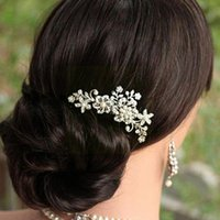 Hair Clips & Barrettes Elegant Wedding Combs For Bride Crystal Rhinestones Bridal Jewelry Pearls Women Headpiece Accessories Hairpins We A6G