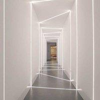 Потолочные светильники 15 Вт Контрастное линейное Светодиодное бар Утопленный алюминиевый профиль стены шайба для освещения в помещении