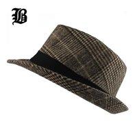 [FLB] Brand Fashion Fashion Pure Uomo Donna Grande Brim Caps Fedoras Floppy Jazz Hat Cappello vintage in lana andatali