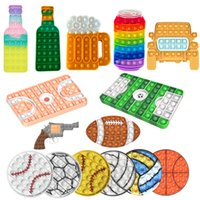 DHL Basketball Court Push Bubble Fidget Toys Football Field Adult Stress Relief Squeeze Toy Antistress Squishy Kids Toy School Gift 2022