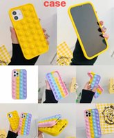 Newarrival Bubble Fidget Cases For Iphone 12 Mini 11 Pro Max X XS XR SE2 7 Plus 8 6 6S Anti Anxiety Relive Stress Shockproof Rubber Cell Phone Silicone Case