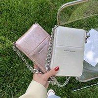 전화 가방 여성 세로 스타일 크로스 바디 작은 크기 2021 도착 체인 귀여운 미니 한국어 패션 단일 어깨 허리 가방