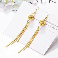 MxGxFam Long Tassel Drop Earrings For Women Fashion Jewelry 24 K Pure Gold Color Lead And Nickel Dangle & Chandelier