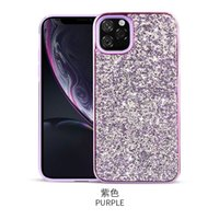 50pce Glitter Plating Two-in-one Phone Case For New iPhone 12 Luxury Diamond Inlay Cover For iPhone 11 Pro 7 8 Plus Cases