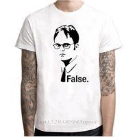 Office Dwight SCHRUTE TV сериал мужчина футболка с коротким рукавом в шее футболка для мужчин Джерси Фитнес Хараджуку Одежда CamiSetas Hombre 210420