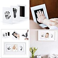 Безопасные нетоксичные Детские следы Handprint Craft Tools No Touch Scep Skin Townless Pads Наборы в течение 0-6 месяцев Newborn Pet Dog Paw Prints Souvenir
