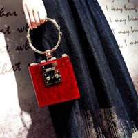 Luxury Handbags Women Square Acrylic Box Clutch Evening Bag Metal Mini Party Purse Bags Lady