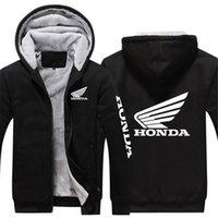 2021 Homens Novo Honda Car Homem Com Capuz Zíper Capuz Quente Impressão Plus Veet Thicken Unisex Outwear Sweetshirts