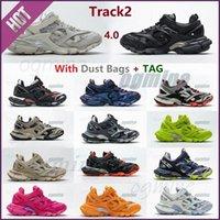 3.0 Tess S Track2 Runners Shoe Hombre para mujer Pista de las mujeres 20SS 19FW Negro Plataforma de fondo grueso Deportes Casual zapatos zapatillas zapatillas de deporte 35-45 [no hay versión de lámpara] zrhv #