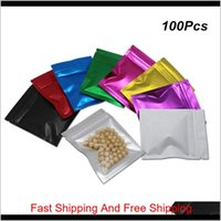 85X13 Cm Multiple Colors Front Clear Zipper Mylar Material Food Storage Bags Aluminum Foil Resealable Packing Pouch With Omnq Sow2E