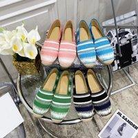 2021 클래식 로퍼 Espadrilles Luxurys 디자이너 캐주얼 신발 운동화 캔버스 패션 여성 구두 상자 Q-87