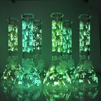 Unique Mushroom Beaker Glass Bong Glow In The Dark Hookah Water Smoking Pipe 11inch 5mm 18.8mm female joint Bowl Dab Rigs