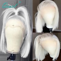 Lace Wigs Straight Front Wig Icy White Blonde Frontal For Women 13x4 13x6 Short Bob Human Hair Virgin 150% Qearl