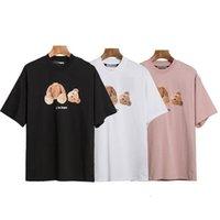 Moda estate uomo T-shirt mans uomo stampato da donna stilista tee palme da uomo stampa manica corta troncata orso angeli