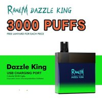 original RandM Dazzle King Disposable E Cigarette 3000Puffs R and M Vape with Rechargeable 12 Colors