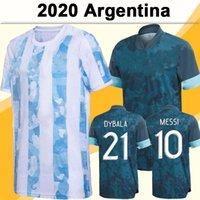 2020 الأرجنتين المنتخب الوطني ميسي دي ماريا هجوين رجل كرة القدم الفانيلة dybala المنزل قمصان كرة القدم أجويري زي قصيرة الأكمام