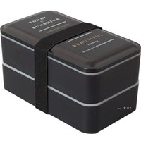 Microwavable Plástico almoço caixa dupla camada recipiente de alimentos multifunções adultos senhora criança lancheira preto caixa 2000ml fwa8565