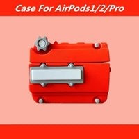 designer AirPods Pro Headphone Cushions Creative red hair motivation engine airpods2 stereo silicone Pro3 Bluetooth headset cover good