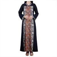 Ethnic Clothing Women Muslim Maxi Abaya Dress Nidha Long Sleeves Solid Color Dubai Turkey Islam Clothes Caftan Robe Modest Gown Elegance