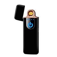 Interruttore a touch screen portatile antivento USB Ricaricabile Sigaretta elettronica Sigaretta Sigaretta senza fiamma Accendisigari Xmas