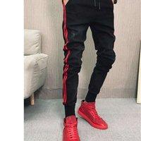 İnterressed Kot Erkekler Sıska Elastik Bel Kalem Pantolon Genç Hiphop Sokak Kot Bahar Sonbahar Tasarımcısı