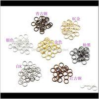 Сплит Open Jump Rings Rings Goldblacksierbronze Цветные разъемы для ювелирных изделий Enq7e AJQRF