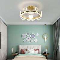 Lámpalleras minimalista Negro Rosa LED araña para el dormitorio Restaurante Vivir Habitación para niños Cachinera Corredor de techo Iluminación decorativa