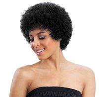 Человеческие волосы Aufo микроволновая печь вьющиеся пушистые парик кружева короткий головной уборной перуанской кухни 150% плотность заводской оптом