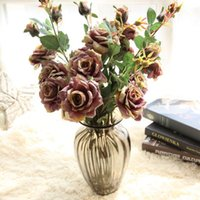 Heads bouquet Silk Rose High Qualit Artificial Flower Wedding Bouquet Decorative For Home Room Decoration Flowers & Wreaths
