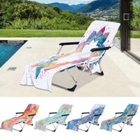 Beach Lounge Chair Cover Towel Summer Cool Bed Garden Sunbat...