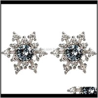 Jewelry Stud Earrings High Quality Woman Fashion Jewelry Retro Simple Snowflake Crystal Zircon Earrings1 Drop Delivery 2021 0S97J