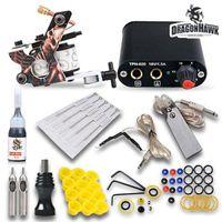Beginner Tattoo Kits Machines Guns Color Inks Sets Needles Power Supply Mgt -18gd -3