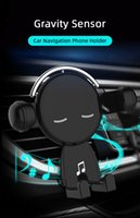 Mr. Music Cartoon Cute Car Phone Holder Stand Bracket Universal Gravity Triangle Fixed For Huawei iPhone Rotation Silicone