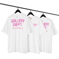 Galería Dept. Camisetas letras rosadas Color sólido suelto más tamaño camiseta T-shirt hombres mujeres vintage tops Harajuku Fondos informales Camisetas de gran tamaño Summer High Street Hip-Hop O-cuello