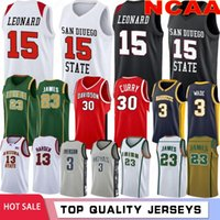NCAA Lebron 23 James College Баскетбол майки Kawhi 15 Леонард Уэйд Аллен 3 Иверсон Дэвидсон Wildcats Stephen 30 Curry Texas University Kevin 35 Durant