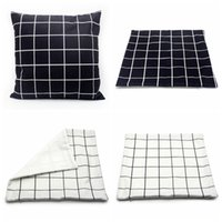 Nova caixa de travesseiro de sublimação em branco 40 * 40cm grade transferência de calor lance capa de almofada home sofá xadrez pillowcases zza3372