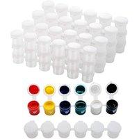 Tiras vazias tinta copo potenciômetros de armazenamento recipientes de pintura artes artesanato suprimentos (5ml / 30pc) conjuntos de presente