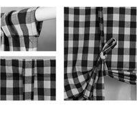 Tie Up Shade Buffalo xadrez Gingham Fit Cashhouse Janela Cortina 42x63 'Vermelho 1877 v2
