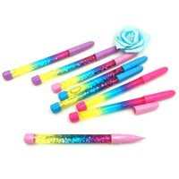 Gel Pens Colorful Sequins Liquid Quicksand Ink Pen Magic Wand Fairy Stationery Gift School Office Supplies