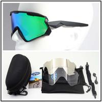 Prizm Widn Jacketer 7072 Gafas de ciclismo Deportes al aire libre Gafas de sol a prueba de viento TR90 Tres lentes con tela de caja 14 colores