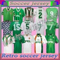 الرجعية خمر 1988 1990 1992 1994 1994 1995 1996 أيرلندا لكرة القدم جيرسي جمهورية أيرلندا لكرة القدم قميص وطني 90 كأس العالم أيرلندا الشمالية 1993 أطقم
