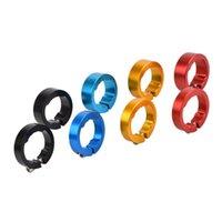 Componentes de guidão de bicicleta 1 par liga de liga Bloqueio de bloqueio 8mm 12mm ergonomia MTB Mountain Bicycle Handlebar Grip Fim 4 Acessórios para cores