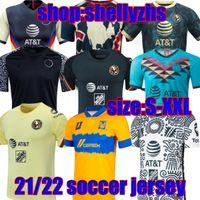 Liga MX 21 22 22 22 Clube do México América Futebol Jerseys Leon Third Away 2021 2022 Camisetas Tigres Unam Chivas Cruz Azul 3rd Treinamento Camisas de futebol Maillot de pé