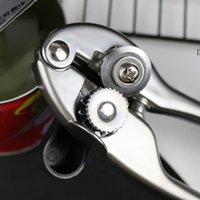 Seguridad blanco níquel zinc aleación de aleación latas abrelatas corte lateral manual de mano puede tarros lata abrelatas de botella profesional herramientas de cocina profesional NHF7365