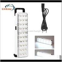 Tragbare Laternen 30 LEDs DC 220V Magnetische Arbeitslicht Laterne Aufladbare Taschenlampe EU-Stecker für Campingwanderung angeln1 CJL77 ET6BY